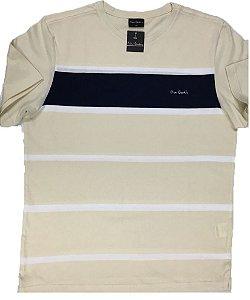 Camiseta Gola Careca Pierre Cardin - 100% Algodão - Ref 75032