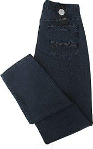 Calça Jeans Masculina Pierre Cardin Reta (CINTURA MÉDIA) - Ref. 457P394 - Algodão / Poliester / Elastano (Jeans Fino e Macio)