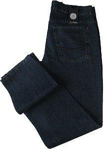 Calça Jeans Masculina Pierre Cardin Reta (Cintura Média) - Ref. 452P292 (AZUL) - 100% Algodão