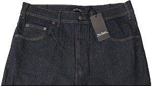 Calça Jeans Masculina Pierre Cardin Reta - Cintura Alta - Ref. 467P072 Grafite - Algodão / Poliester / Elastano - Jeans Macio