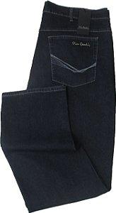 Calça Jeans Pierre Cardin Reta Tradicional (CINTURA ALTA) - Ref. 487P326 (PLUS SIZE) - Algodão / Poliester / Elastano - (Jeans Fino e Macio)