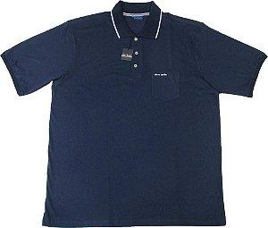 60ede5fd42 Camisa Polo Pierre Cardin (PLUS SIZE) Com Bolso Pequeno - 100% Algodão -