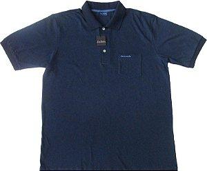 Camisa Polo Pierre Cardin (Com Bolso Pequeno) - 100% Algodão - Ref. 40150 AZUL MARINHO