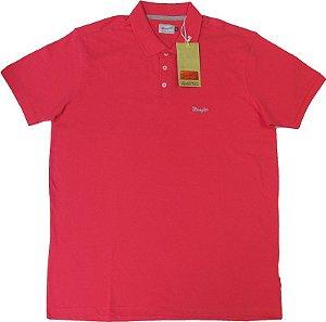 Camisa Polo Wrangler Malha Piquet  - 100% Algodão (SEM BOLSO) - Ref. 71461C5ES4 - SALMÃO
