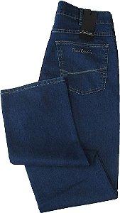 Calça Jeans Masculina Pierre Cardin Reta (Cintura Alta) - Ref. 467P234 (DELAVE) - Algodão / Poliester / Elastano (Jeans Fino e Macio)