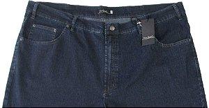 Calça Jeans Pierre Cardin Reta Tradicional (CINTURA ALTA) - Ref. 487P233 - AZUL (PLUS SIZE) - Algodão / Poliester / Elastano - (Jeans Fino e Macio)