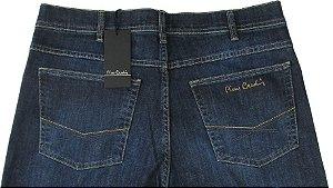 Calça Jeans Masculina Pierre Cardin Reta (Cintura Alta) - Ref. 467P928 (AZUL) - 98% Algodão / 2% Elastano