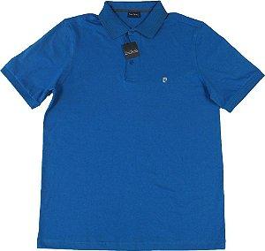 Camisa Polo Pierre Cardin (SEM BOLSO) - 100% Algodão - Ref. 41940 AZUL ROYAL