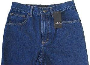 Calça Jeans Masculina Pierre Cardin Reta Tradicional (Cintura Alta) - Ref. 460P547 Azul - 100% Algodão
