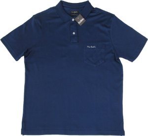 Camisa Polo Pierre Cardin Com Bolso Pequeno  - 100% Algodão (Fio de Escócia) - Ref. 10054 Marinho