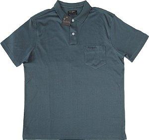 Camisa Polo Pierre Cardin Com Bolso Pequeno  - 100% Algodão (Fio de Escócia) - Ref. 10054 Verde