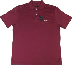 Camisa Polo Pierre Cardin Com Bolso Pequeno  - 100% Algodão (Fio de Escócia) - Ref. 10054 Vinho