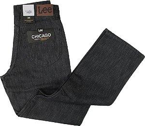 Calça Masculina Jeans Lee Chicago Preta Reta Tradicional - Ref. 200-4x-0150 - 100% Algodão