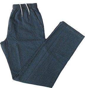 Calça Jeans Fino de Elástico (Com Zipper) -  Stargriff  - Ref. 427 Delave