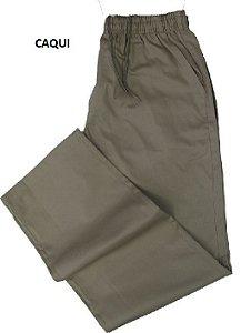 Calça de Elástico Masculina Com Zipper - Stargriff - 100% Algodão - Ref. 421 Caqui