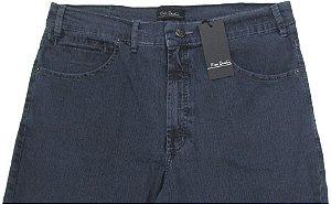 Calça Jeans Masculina Pierre Cardin Reta (Cintura Alta) - Ref. 467P886 (CINZA) - Algodão / Poliester / Elastano (Jeans Fino e Macio)