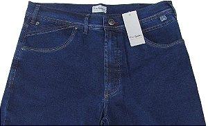 Calça Jeans Masculina Pierre Cardin Reta (Cintura Alta) - Ref. 467P586 - Algodão / Poliester / Elastano (Jeans Fino e Macio)