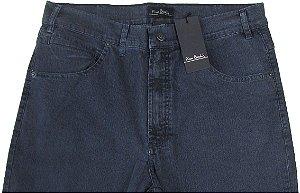 Calça Jeans Masculina Pierre Cardin Reta (Cintura Alta) - Ref. 467P982 (GRAFITE) - Algodão / Poliester / Elastano (Jeans Fino e Macio)