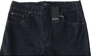 Calça Jeans Masculina Pierre Cardin Reta (Cintura Alta) - Ref. 467P092 (AZULÃO) - Algodão / Poliester / Elastano (Jeans Fino e Macio)