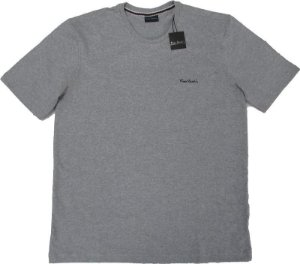 Camiseta Gola Careca Pierre Cardin (PLUS SIZE) - 88% Algodão / 12% Poliester - Ref. 40146 Cinza Mescla
