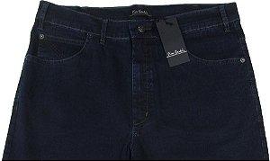 Calça Jeans Masculina Pierre Cardin Reta (Cintura Alta) - Ref. 467P091 (AZUL) - Algodão / Poliester / Elastano (Jeans Fino e Macio)