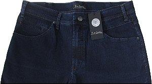 Calça Jeans Masculina Pierre Cardin Reta (Cintura Média) - Ref. 457P238 (AZUL) - Algodão / Poliester / Elastano (Jeans Fino e Macio)