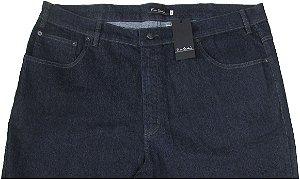 Calça Jeans Masculina Pierre Cardin Reta (Cintura Alta) - Ref. 487P092 (AZUL)  PLUS SiZE - Algodão / Poliester / Elastano (Jeans Fino e Macio)