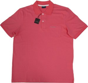 Camisa Polo Pierre Cardin (Com Bolso Pequeno) - 100% Algodão - Ref. 40150 GOIABA