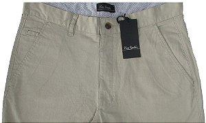 Calça Sport Fino Pierre Cardin (Bolso Faca) - Ref. 430p945 bege - 98% Algodão / 2% Elastano