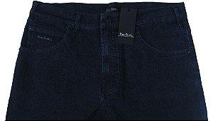 Calça Jeans Masculina Pierre Cardin Reta (Cintura  Alta) - Ref. 467P251 (AZUL) - Algodão / Poliester / Elastano (Jeans Fino e Macio)
