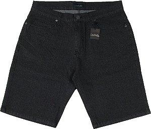 Bermuda Jeans Masculina Pierre Cardin - Ref. 50180 Preta - Algodão / Poliester / Elastano (Jeans Fino e Macio)