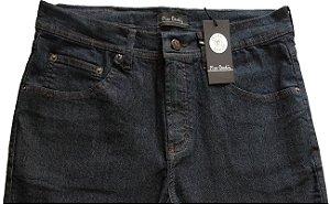 Calça Jeans Masculina Pierre Cardin Reta (Cintura Média) - Ref. 457P016 (AZULÃO) - Algodão / Poliester / Elastano (Jeans Fino e Macio)