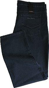 Calça Jeans Masculina Pierre Cardin Reta (Cintura Alta) - Ref. 487P941 - PLUS  SiZE - Algodão / Poliester / Elastano (Jeans Fino e Macio)