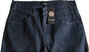 Calça Jeans Masculina Pierre Cardin Reta (Cintura Média) - Ref. 457P002 (AZULÃO) - Algodão / Poliester / Elastano (Jeans Fino e Macio)