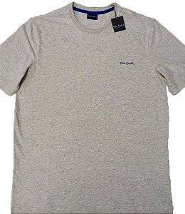 Camiseta Gola Careca Pierre Cardin  - 88% Algodão / 12% Poliester - Ref. 43195 Cinza