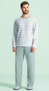 Pijama Longo Masculino - Lua Encantada - Ref. 12000011 - Algodão / Poliester