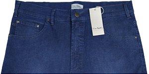 Calça de Sarja Canelada Masculina Pierre Cardin Reta (Cintura Alta) - Ref. 467p913 (Azul) - 98 % Algodão / 2% Elastano