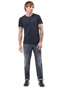 Camiseta Lee Gola careca -100% Algodão - Ref. 5101L - Preta