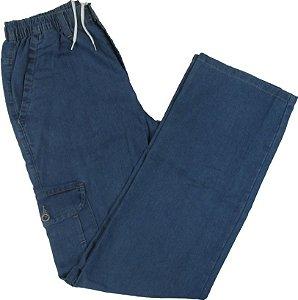 Calça Jeans Fino Com Elástico - Stargriff - Bolso Lateral - Ref. 784 Delave