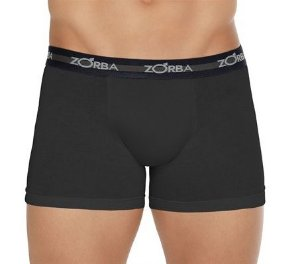 Cueca Boxer Max Zorba (Sem Abertura) - Ref 702 Preta - 100% ALGODÃO