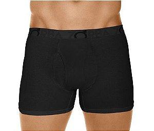 Cueca Boxer Flex Zorba (Com Abertura) - Ref 765 Preta - 95% Algodão / 5% Elastano