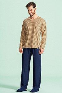 Pijama Longo Masculino Lua Encantada - Ref. 12000012 - Algodão / Poliester