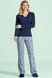 Pijama Longo Feminino Lua Encantada - Ref. 10100055