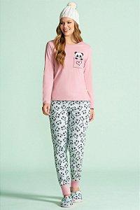 Pijama Longo Feminino Lua Encantada - Ref. 10100001 - 100% Algodão