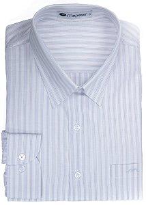 Camisa Manga Longa Passa Fácil Masculina Mepase Plus Size - Algodão / Poliester - REF 5243C3