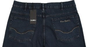 Calça Jeans Masculina Pierre Cardin Reta Tradicional Cintura Alta - Ref. 464P850 - 100% Algodão