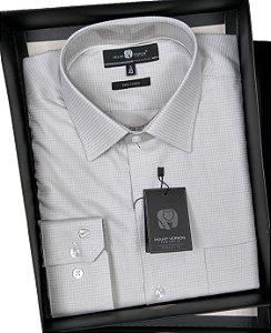 Camisa Social Masculina Manga Longa Com Bolso - Mount Vernon - Ref. E3268120CZ - 100% Algodão