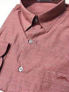 Camisa Manga Longa Passa Fácil Masculina Mepase - Algodão / Poliester - REF 5268 Cenoura