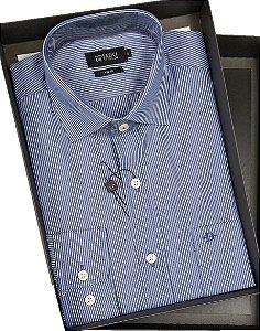 Camisa Dimarsi Com Bolso - Manga Longa - Fio 60 - 100% Algodão - Ref. 8666AZ