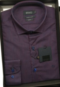 Camisa Slim Fit Dimarsi Sem Bolso - Manga Longa - Algodão EgÍpcio - Ref. 8670 Vinho